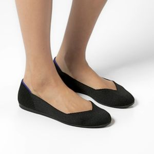 Rothy's Shoes - Rothys Black Rounded Toe Sustainable Flats 6